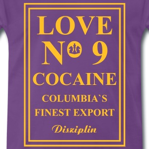 Love No9 Cocaine Columbia´s Finest Export T-shirts - Mannen Premium T-shirt