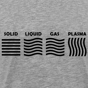 The 4 Phases of Matter: SOLID, LIQUID, GAS, PLASMA T-Shirts - Men's Premium T-Shirt