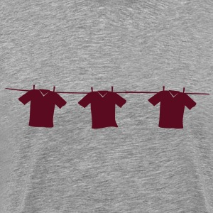 Shirts on the clothesline  T-Shirts - Men's Premium T-Shirt