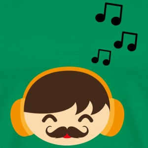 Music, face, laugh with moustache T-Shirts - Men's Premium T-Shirt