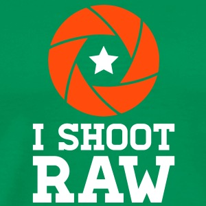 I Shoot RAW - Star T-shirts - Mannen Premium T-shirt