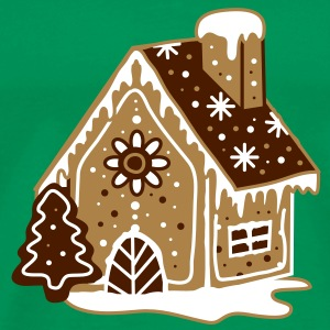 A gingerbread house, gingerbread and frosting  T-Shirts - Men's Premium T-Shirt