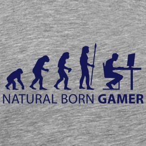 evolution natural born gamer T-Shirts - Männer Premium T-Shirt