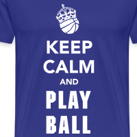 Zoom: Men's Premium T-Shirt with design Keep Calm and Play Basketball