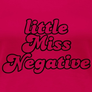 little Miss Negative T-shirts - Dame premium T-shirt