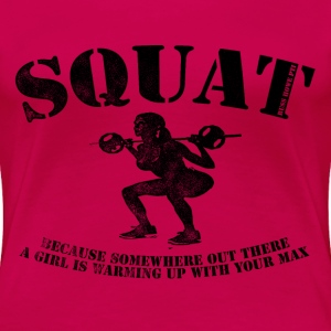 Squat T-Shirts - Women's Premium T-Shirt