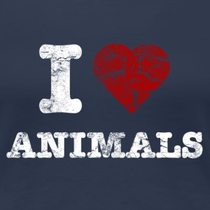 i_love_animals_vintage_hell Tee shirts - T-shirt Premium Femme