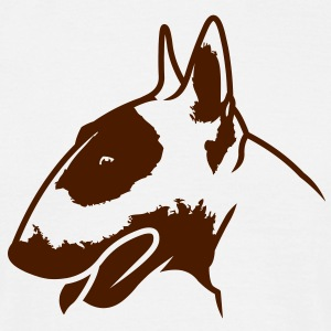 Bullterrier head_4light_1c T-Shirts - Männer T-Shirt