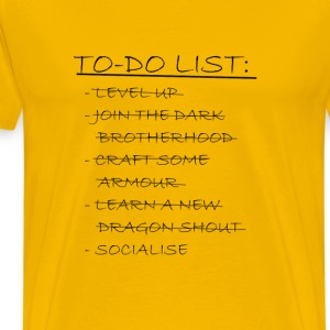 Novelty To Do List - Men's Premium T-Shirt