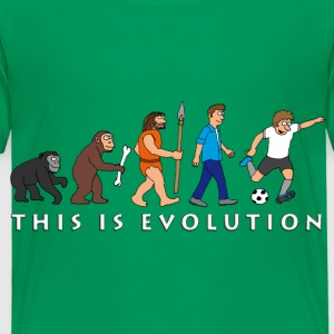 evolution_fussball_comic_a T-Shirts - Kinder Premium T-Shirt