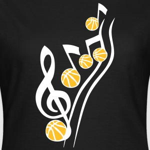 partition musique basketball note cle ba Tee shirts - T-shirt Femme