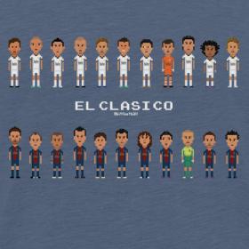 Design ~ Classic Men T-Shirt El Clasico 2013 Real Madrid