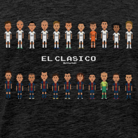 Design ~ Classic Men T-Shirt El Clasico 2013 Real Madrid
