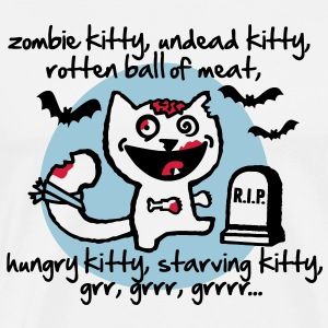 zombie kitty, undead kitty, rotten ball of meat... T-skjorter - Premium T-skjorte for menn