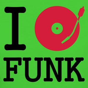 :: I dj / play / listen to funk :-: - T-shirt ecologica da donna