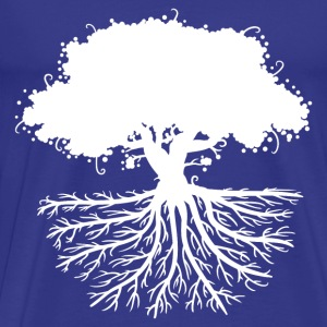 tree roots white T-Shirts - Men's Premium T-Shirt