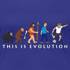evolution_fussball_comic_a T-Shirts - Frauen Premium T-Shirt