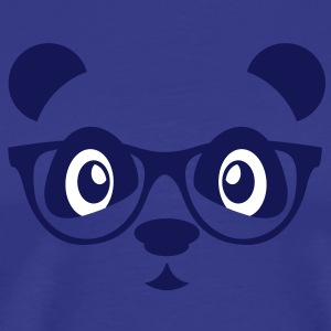 panda with glasses T-shirts - Herre premium T-shirt