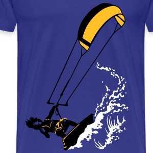Kitesurfing and wave - T-shirt Premium Homme