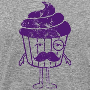 cute_monster_sir_cupcake_dd_used T-shirts - Herre premium T-shirt