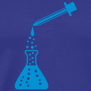 laboratory_bottle_and_pipette T-shirts - Herre premium T-shirt