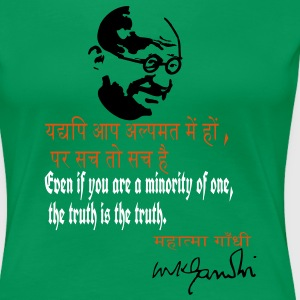 truth mahatma m k gandhi quotes T-Shirts - Women's Premium T-Shirt