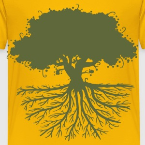 tree roots green Shirts - Kids' Premium T-Shirt