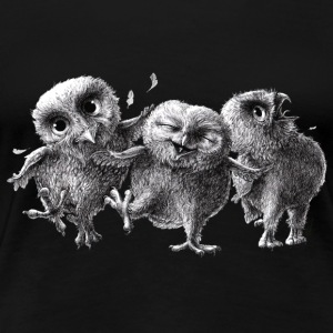 three crazy owls - Premium T-skjorte for kvinner