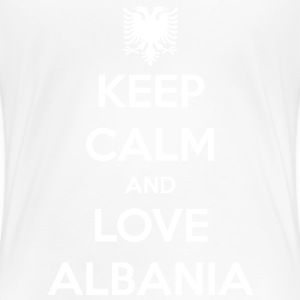 KEEP CALM AND LOVE ALBANIA Tee shirts - T-shirt Premium Femme