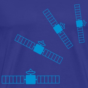 satellites T-shirts - Herre premium T-shirt