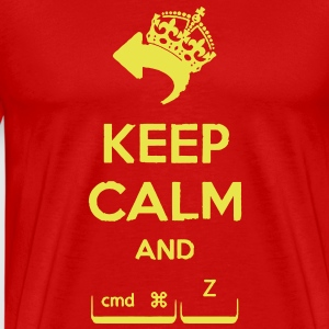 Keep Calm and cmd + z T-Shirts - Men's Premium T-Shirt