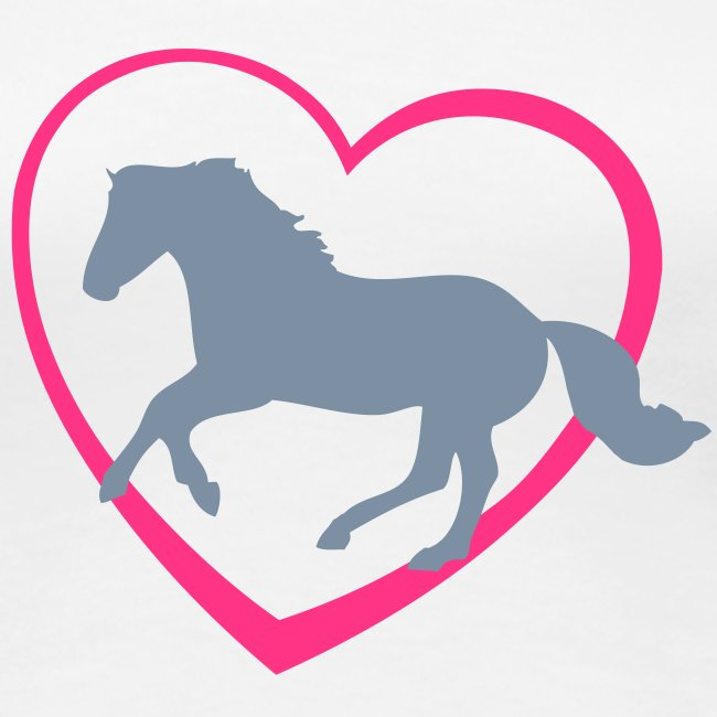 Galloping Horse with Heart T-shirt