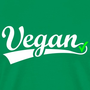 vegan vegetarian animal welfare Go veggie Go green T-shirts - Herre premium T-shirt
