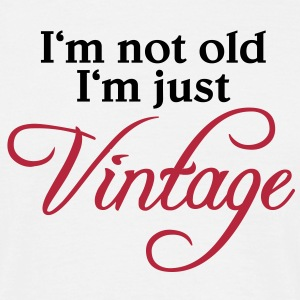 I'm not old, just vintage T-shirts - Mannen T-shirt