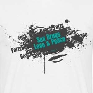 Stofftasche Sex Drugs Love & Peace - Männer T-Shirt