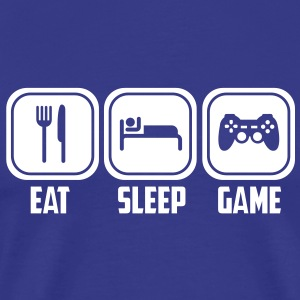 eat sleep game T-Shirts - Men's Premium T-Shirt