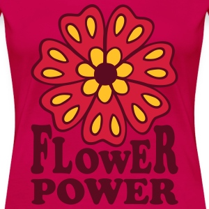 Flower Power 70s Retro Goa Flowers Hippie T-Shirts - Women's Premium T-Shirt