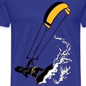 Kitesurfing and wave - Men's Premium T-Shirt