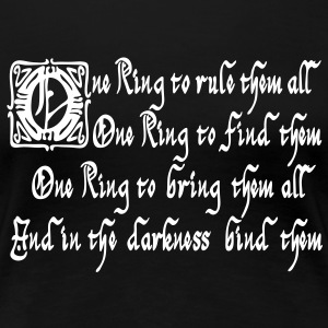 One Ring T-Shirts - Frauen Premium T-Shirt