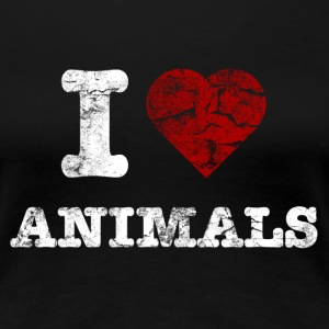 i_love_animals_vintage_hell T-shirts - Vrouwen Premium T-shirt