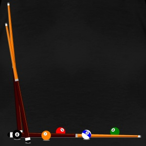 Billard Queues Kugeln | F 3XL - Frauen Premium T-Shirt