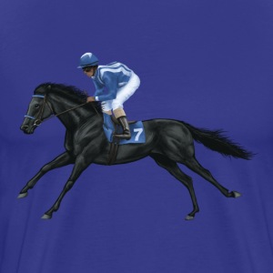 Black Racehorse T-Shirts - Men's Premium T-Shirt