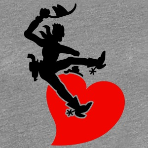 Cowboy Riding a Wild Heart T-Shirts - Women's Premium T-Shirt
