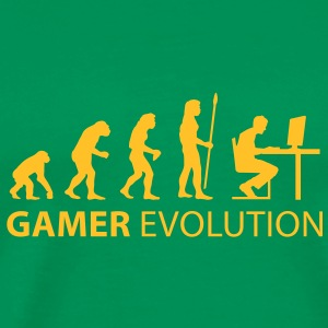 evolution_born_gamer T-Shirts - Men's Premium T-Shirt
