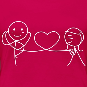 Together Forever (LOVE) T-Shirts - Frauen Premium T-Shirt