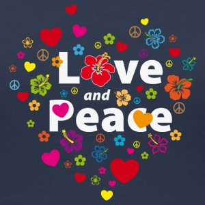 Girlieshirt Love and Peace - Frauen Premium T-Shirt