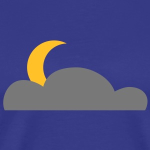 half_moon_behind_cloud T-Shirts - Men's Premium T-Shirt