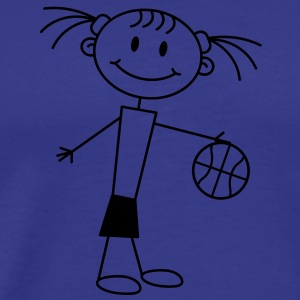 basketball_girl T-shirts - Herre premium T-shirt