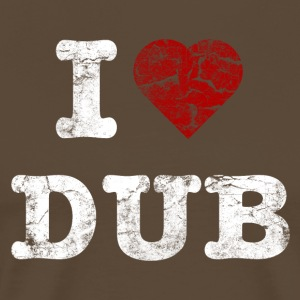 I Love DUB vintage light T-shirts - Mannen Premium T-shirt