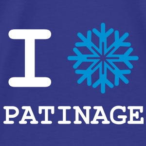 I Love Patinage Tee shirts - T-shirt Premium Homme